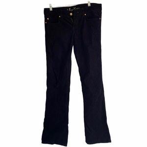 Juicy Couture Corduroy Black Pants Sz 29